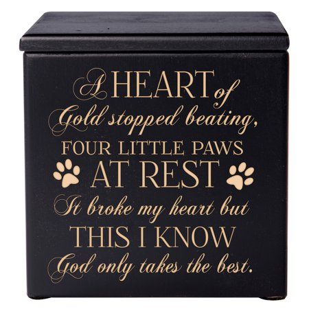 Small Pet Urn (Pet Cremation Urn - Four Little Paws At Rest God Only Takes the Best - Small (Black))