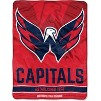 "8a3c92edf7b Product Image NHL Washington Capitals ""Breakaway"" 46""x 60"" Micro Raschel  Throw"