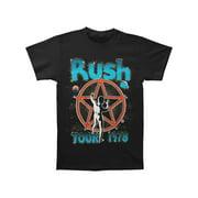 Rush Men's  Starman Tour 1978 T-shirt Navy
