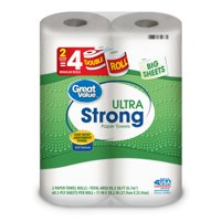 Great Value Ultra Strong Paper Towels, 2 Double Rolls