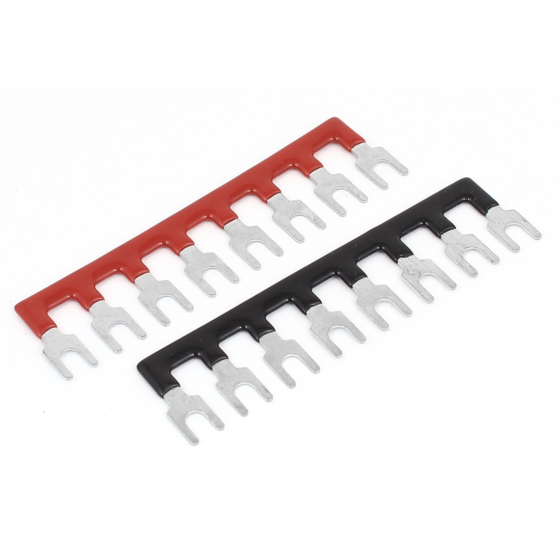 TB1508 400V 10A Fork Type 8 Positions Pre Insulated Terminal Stripe Block 2Pcs