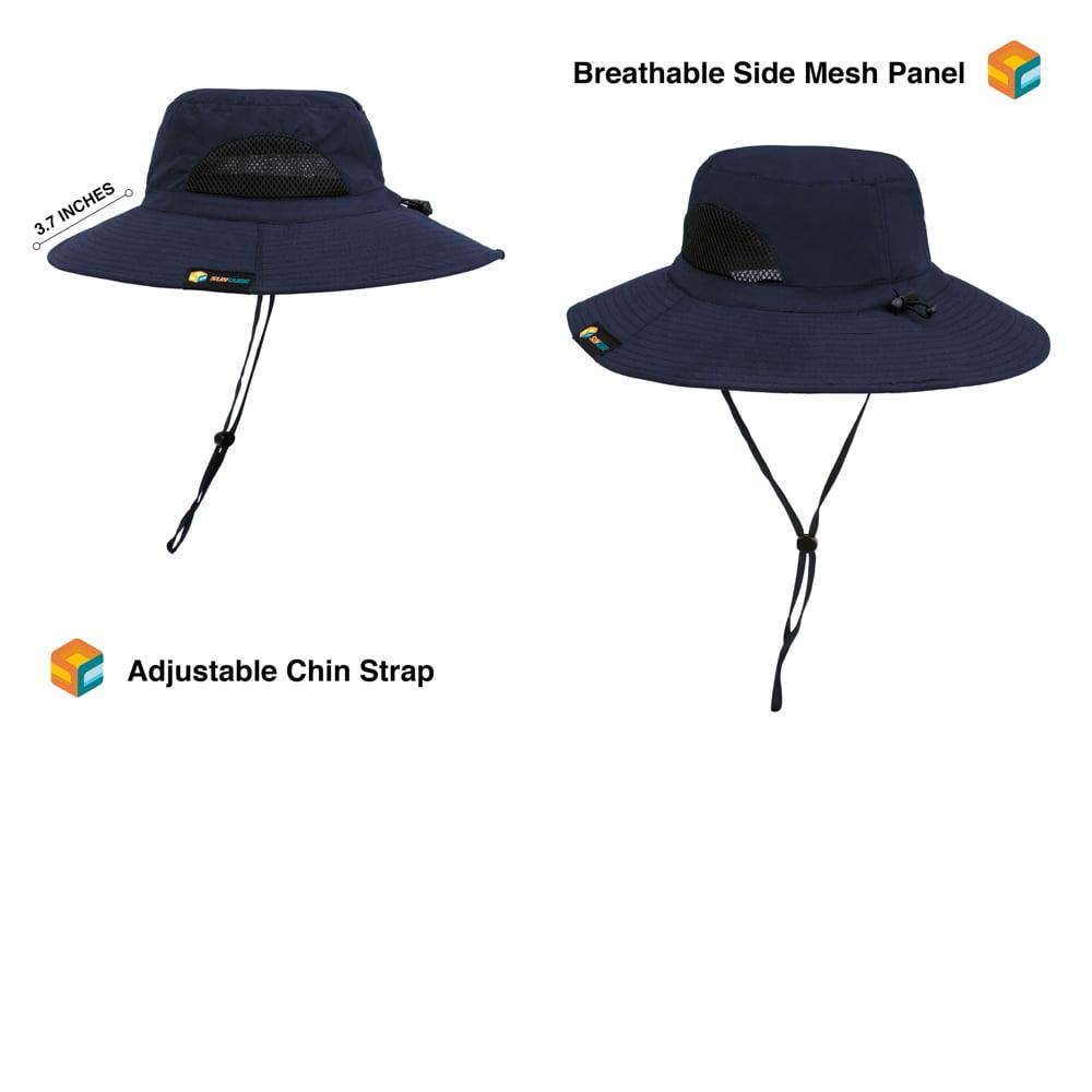 bab8edd27 SUN CUBE Premium Boonie Hat | Wide Brim Adjustable Chin Strap | Outdoor  Fishing, Hiking, Safari, Summer Bucket Hat | UPF 50+ Sun Protection |  Packable ...