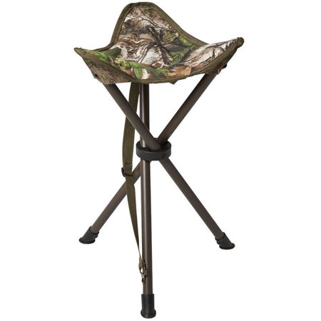 Hunters Specialties Spandex Camo - Hunters Specialties Camo Furniture Tripod Stool, Realtree Xtra Green