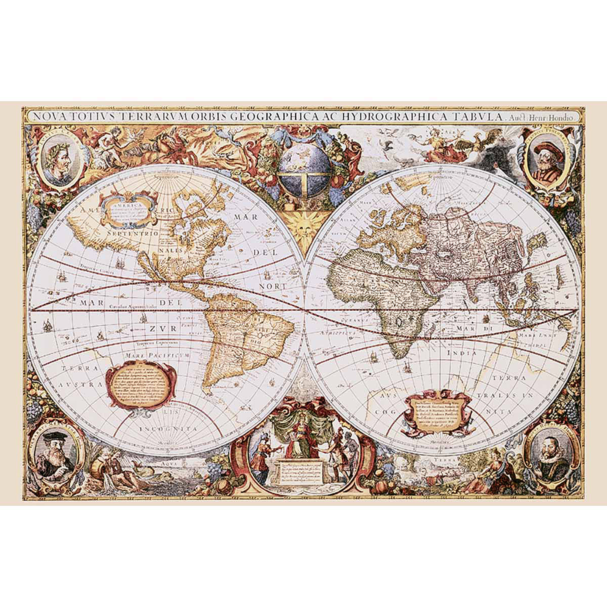 Map of the World Photography Art