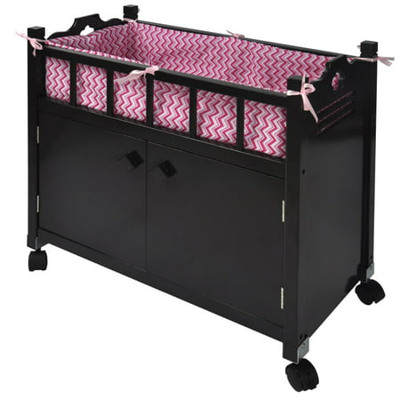 Naomi Home Kids Doll Crib with Storage-Finish:Espresso ()