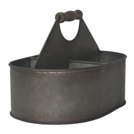 Small Metal Oval Storage Slot Caddy, Small - 6.5 x 6.5 x 10.5 in.