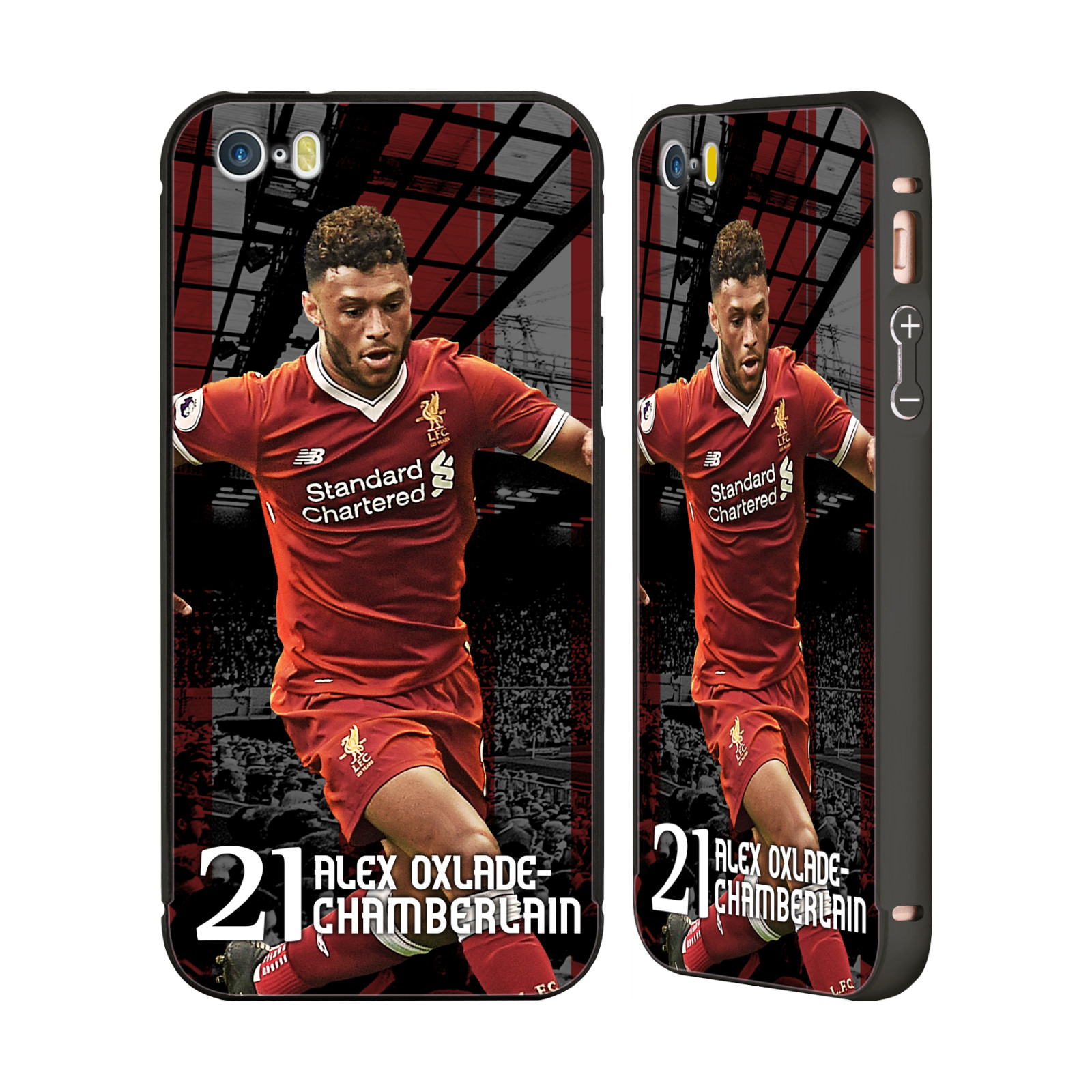 OFFICIAL LIVERPOOL FOOTBALL CLUB 2017/18 FIRST TEAM 1 BLACK ALUMINIUM BUMPER SLIDER CASE FOR IPHONE PHONES