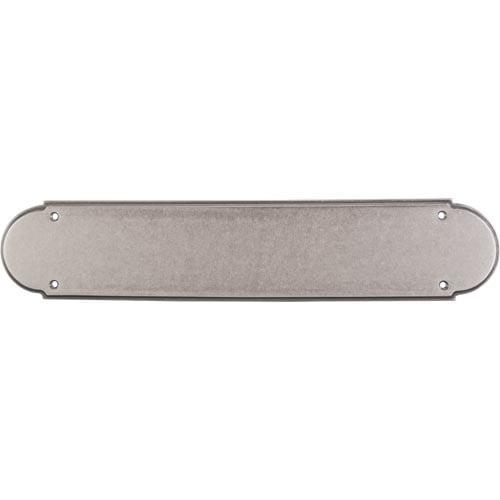 """Top Knobs M905 Plain Push Plate 15"""" - Pewter Antique"""