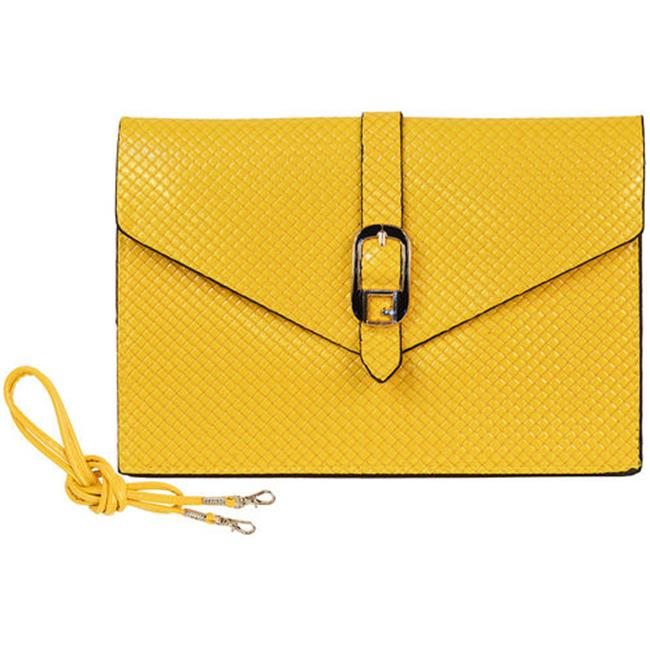 Cathrine Lillywhite GC1482YL Yellow Foldover Crossbody - 5 x 8 in.