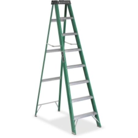 - Davidson Ladders Fiberglass Step Ladder - 225 Lb Load Capacity - Green (fs4008_35)