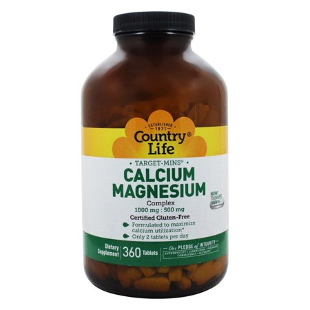 Country Life - Target-Mins Calcium-Magnesium Complex 1000 mg - 500 mg - 360 Tablets ()