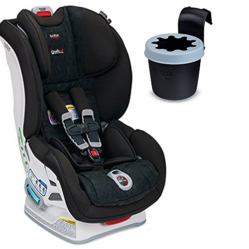 Britax Boulevard ClickTight Convertible Car Seat (Circa) With Black Cup Holder Bundle