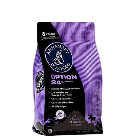 Annamaet Option Formula 24% Protein Catfish & Venison Dry Dog Food, 15 (Venison Formula Dry Food)