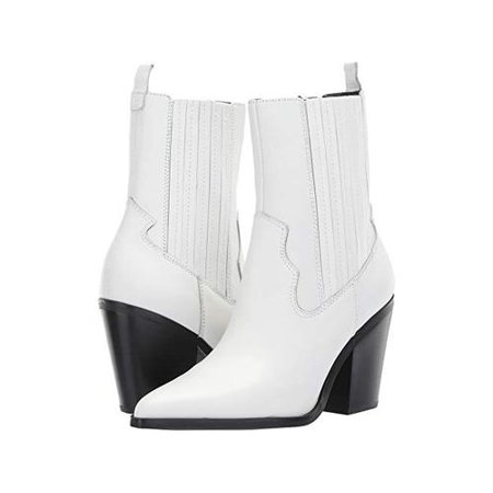 92f1789d7ba Aldo Womens Drerissa Leather Pointed Toe Mid-Calf Cowboy Boots, White, Size  9.0