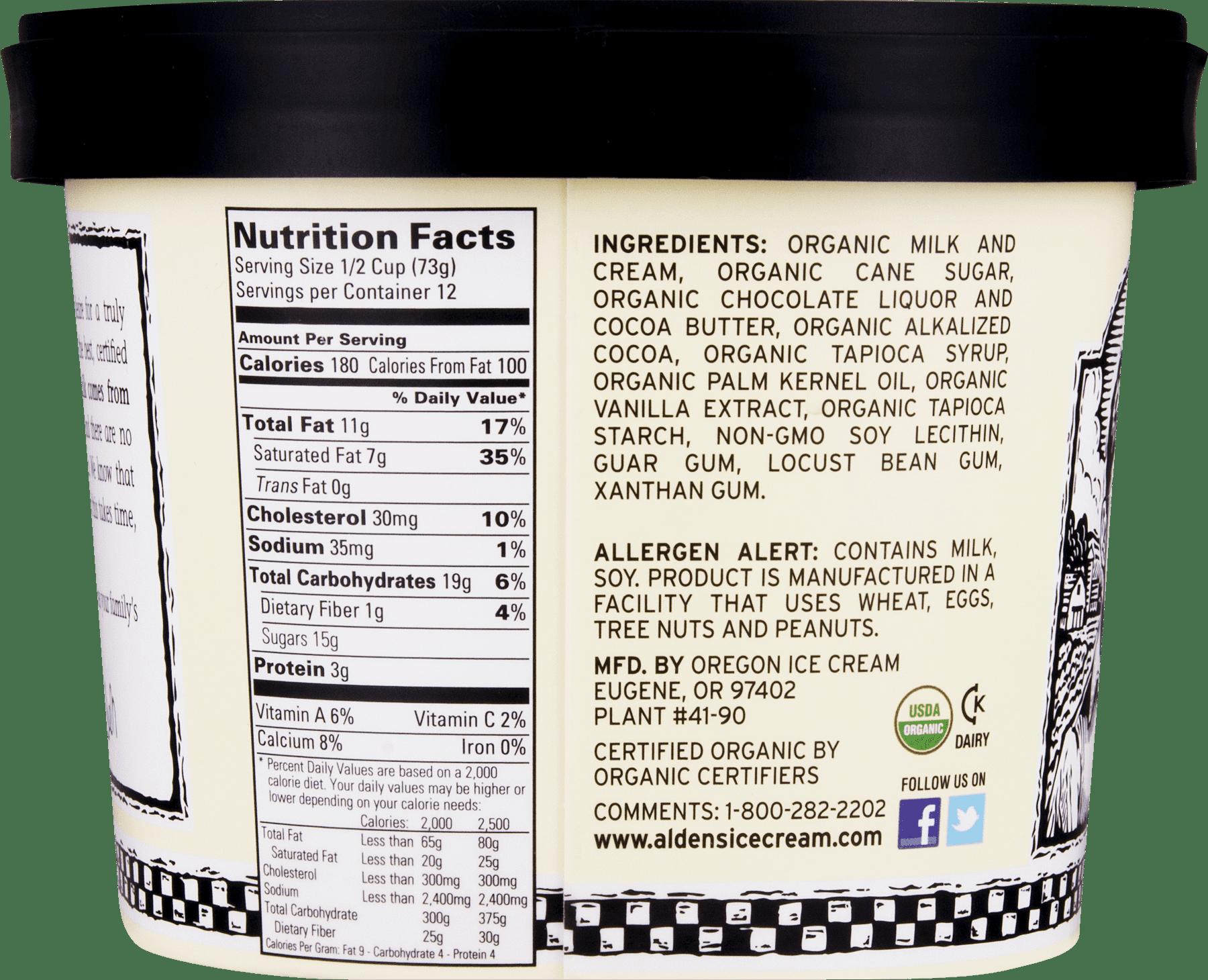 Oregon Ice Cream Aldens Organic Ice Cream, 1 5 qt - Walmart com