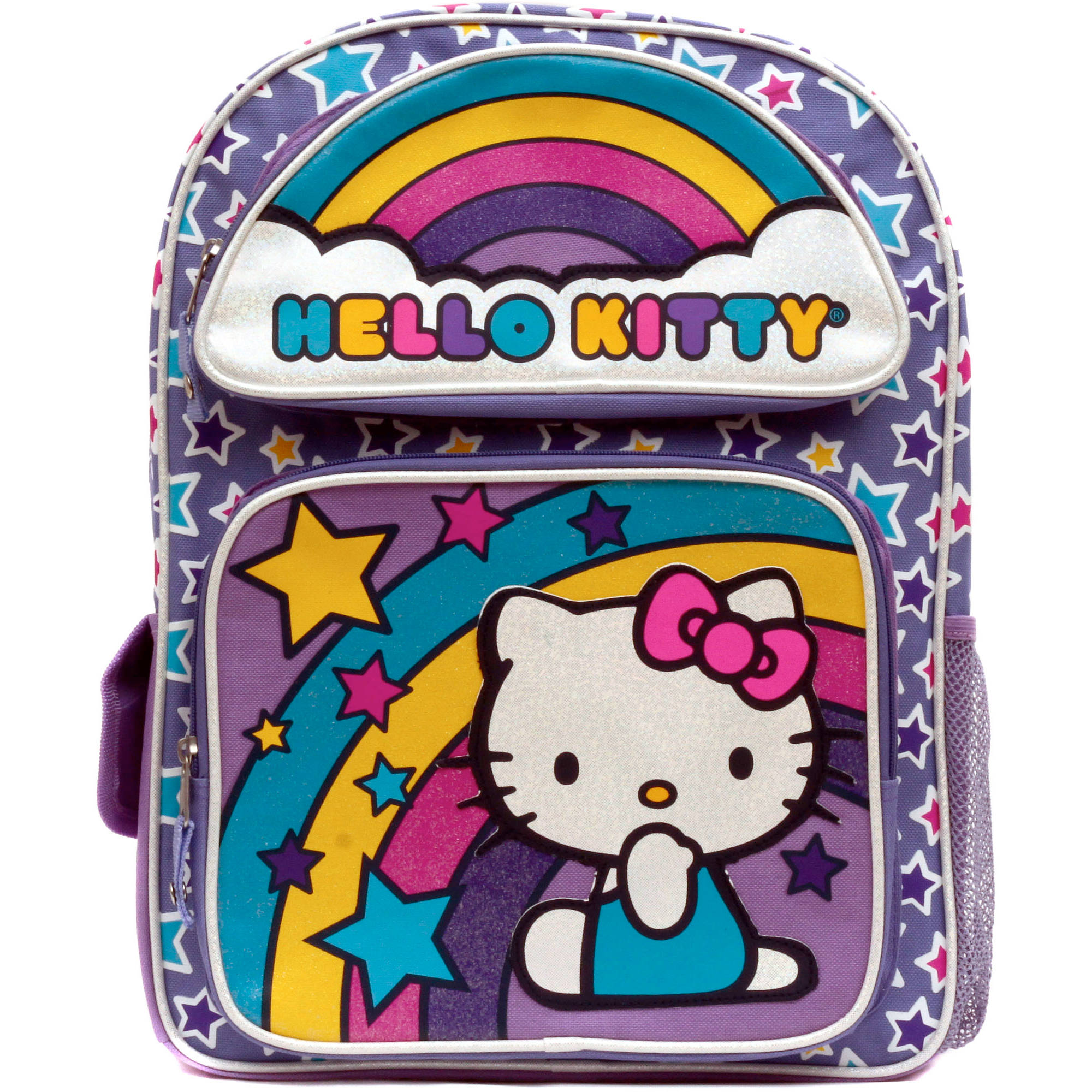 "Hello Kitty ""Rainbow Stars"" 16"" Backpack"