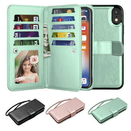 d2ba66e29a8 iPhone XR Case, Wallet Case iPhone XR, iPhone XR Pu Leather Case, Njjex Pu  Leather Magnet ...