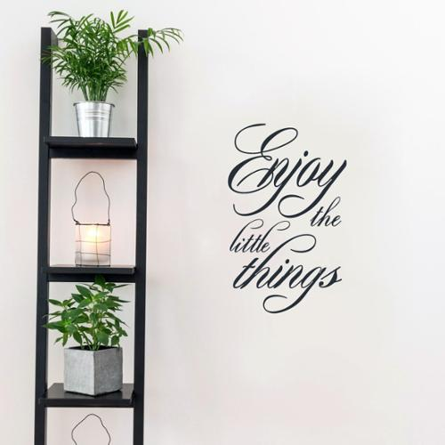 Sweetums Enjoy the Little Things Wall Decal 15-inches wide x 24-inches tall