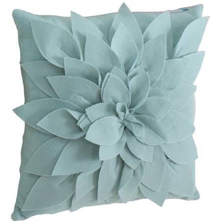 Red Ring Pillow (Sara's Garden Petal Decorative Throw Pillow. 17 Inch Square (Aqua, Case+Insert))