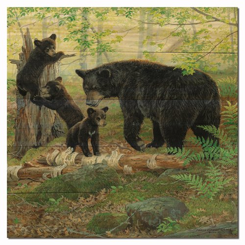 WGI-GALLERY Playtime Bears by Persis Weirs Painting Print Plaque by WGI-GALLERY