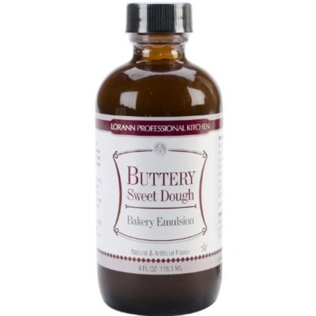 Buttery Flavor (Lorann Oils Bakery Emulsions Natural and Artificial Flavor, 4-Ounce, Buttery Sweet Dough )