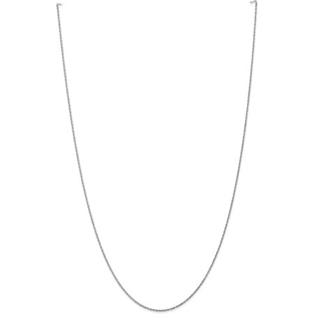 10k WG .8mm Polished Lite Baby Rope (Baby White Necklace)