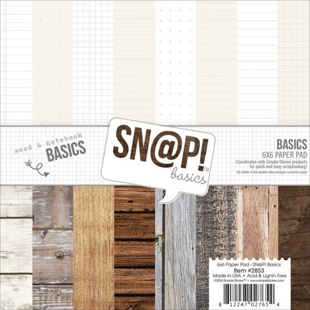 Simple Stories Notebook & Wood Grain Paper Kit: 12 x 12 - Simple Chipboard Kit