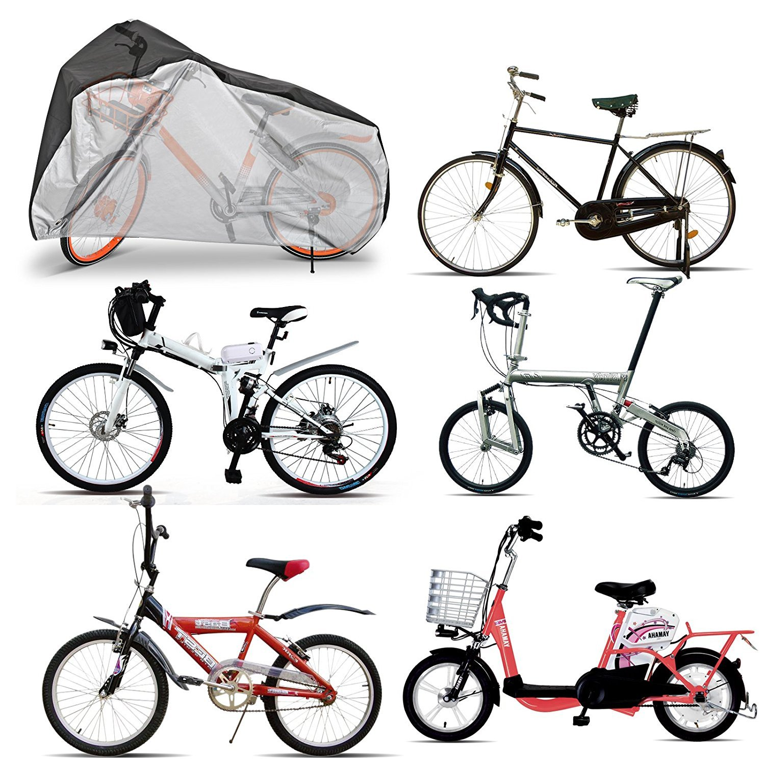 Bicycle cover protective cover tarpaulin bicycle garage for up to 1 bicycle