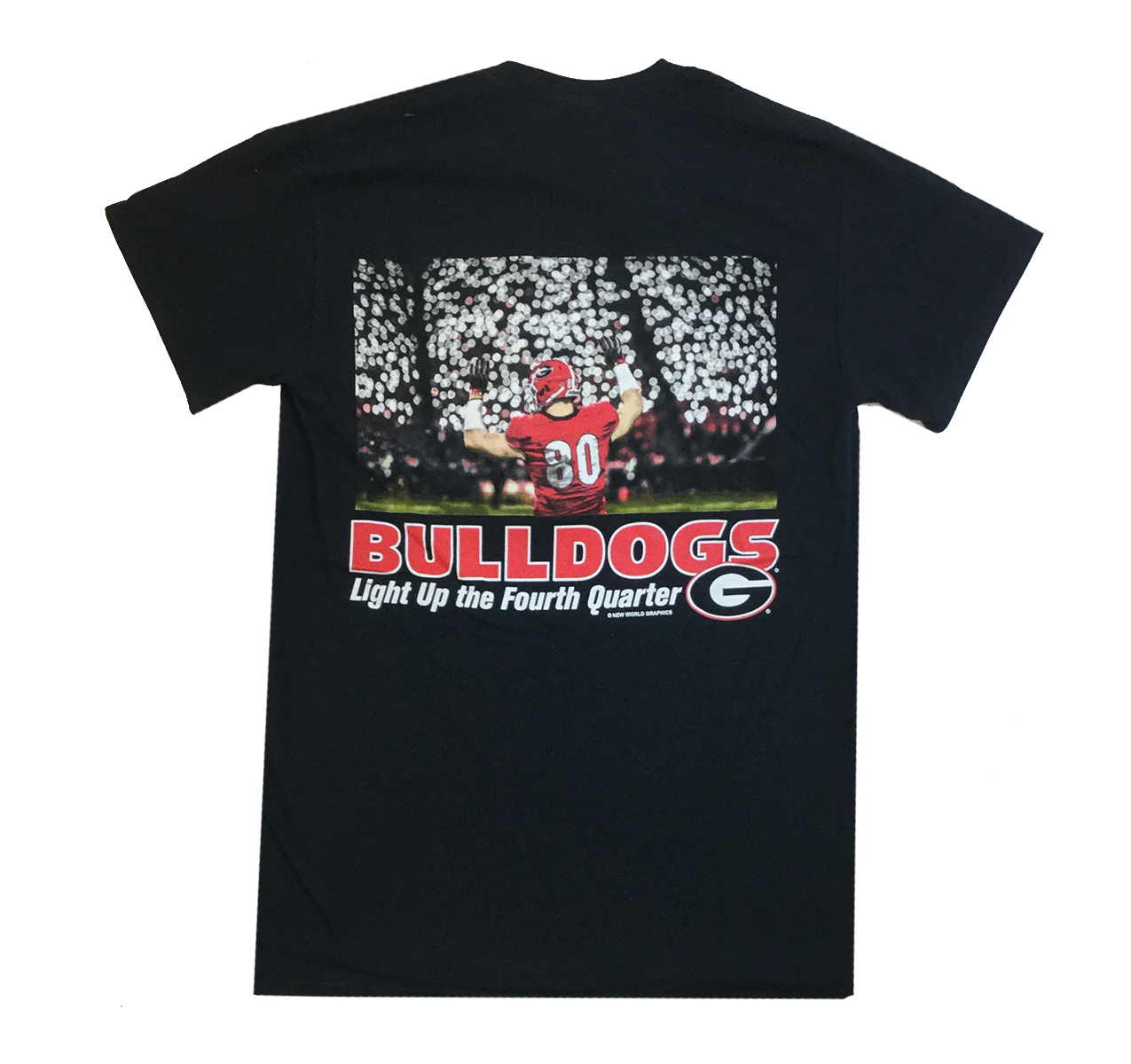 University Of Georgia Bulldogs Mens Lights Short Sleeve T-shirt