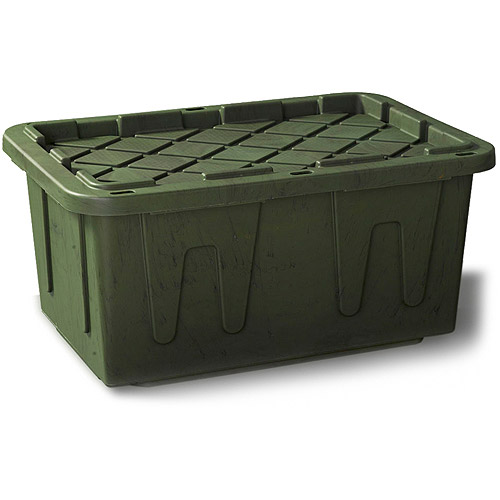 Durabilt 27 Gal. Plastic Storage Tote, Camo (Set of 4)