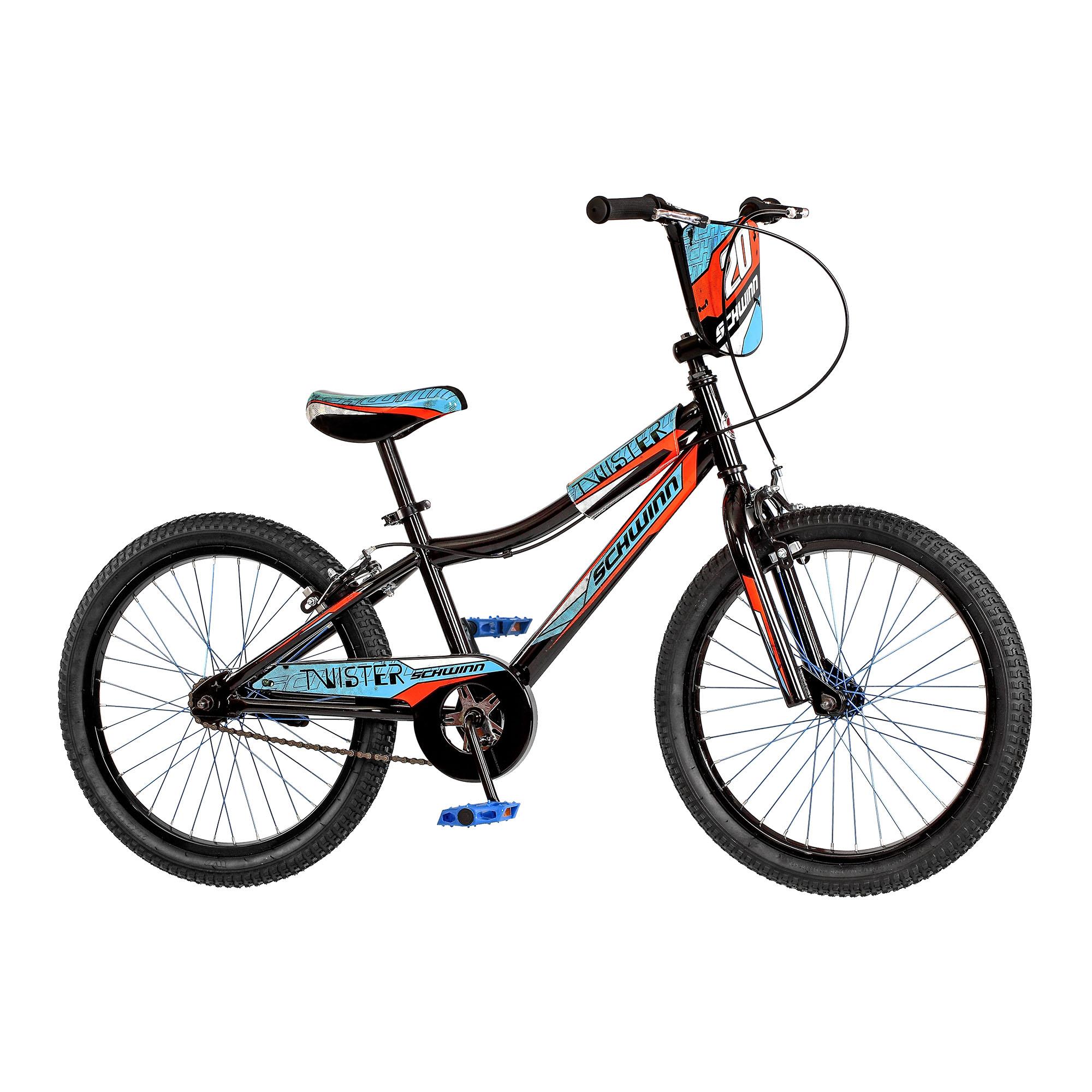 "Schwinn SmartStart Twister 20"" Steel Frame Hand Brake Kids Sidewalk Bicycle"