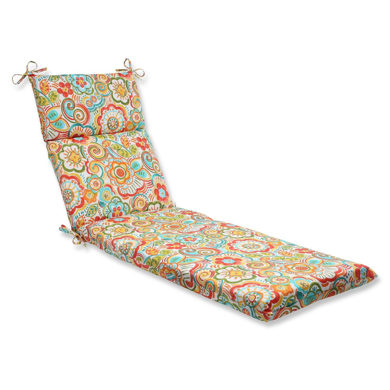 "21"" x 72.5"" Bronwood Carnival Outdoor Patio Chaise Lounge Cushion"