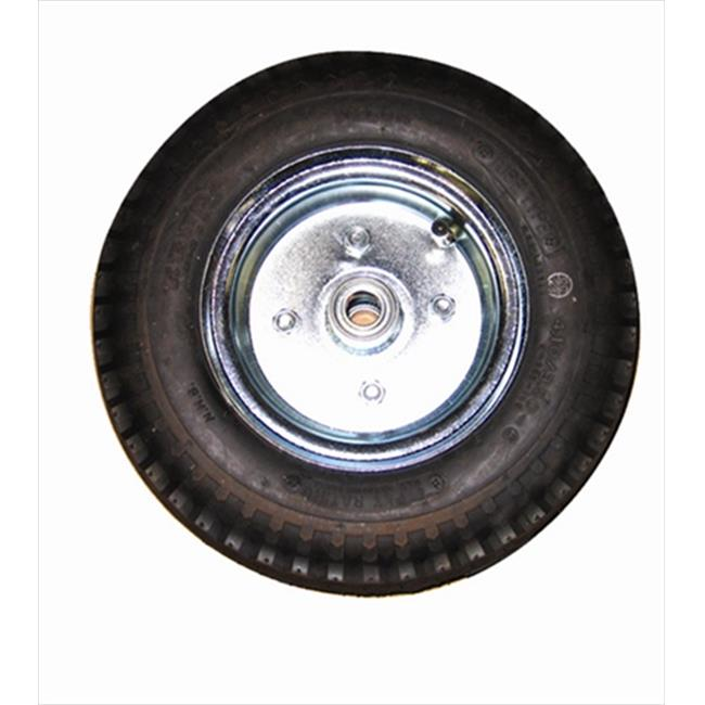 Wesco 108839 1. 5 inch W x 6 inch H x 6 inch D Cast Iron Center Moldon Rubber Wheel