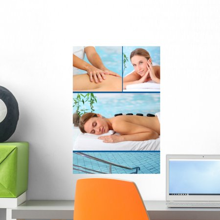 Spa Center Brochure Wall Mural by Wallmonkeys Peel and Stick Graphic (18 in H x 12 in W) (Mural Center)