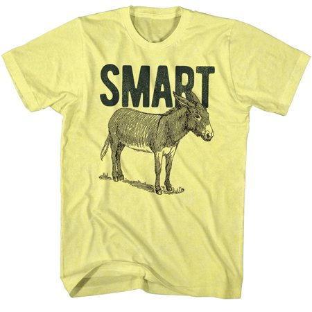 Smart A-- Donkey Horse Equidae Funny Comical Joke Adult T-Shirt