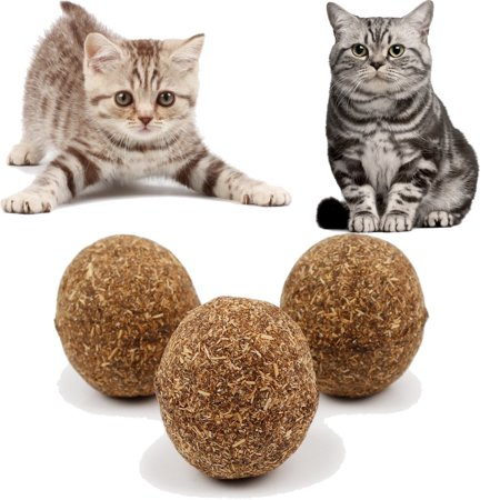 Outtop Cats Kitten Pet Ball Toy Natural Catnip Funny Playing Catch Teaser Chewing ()