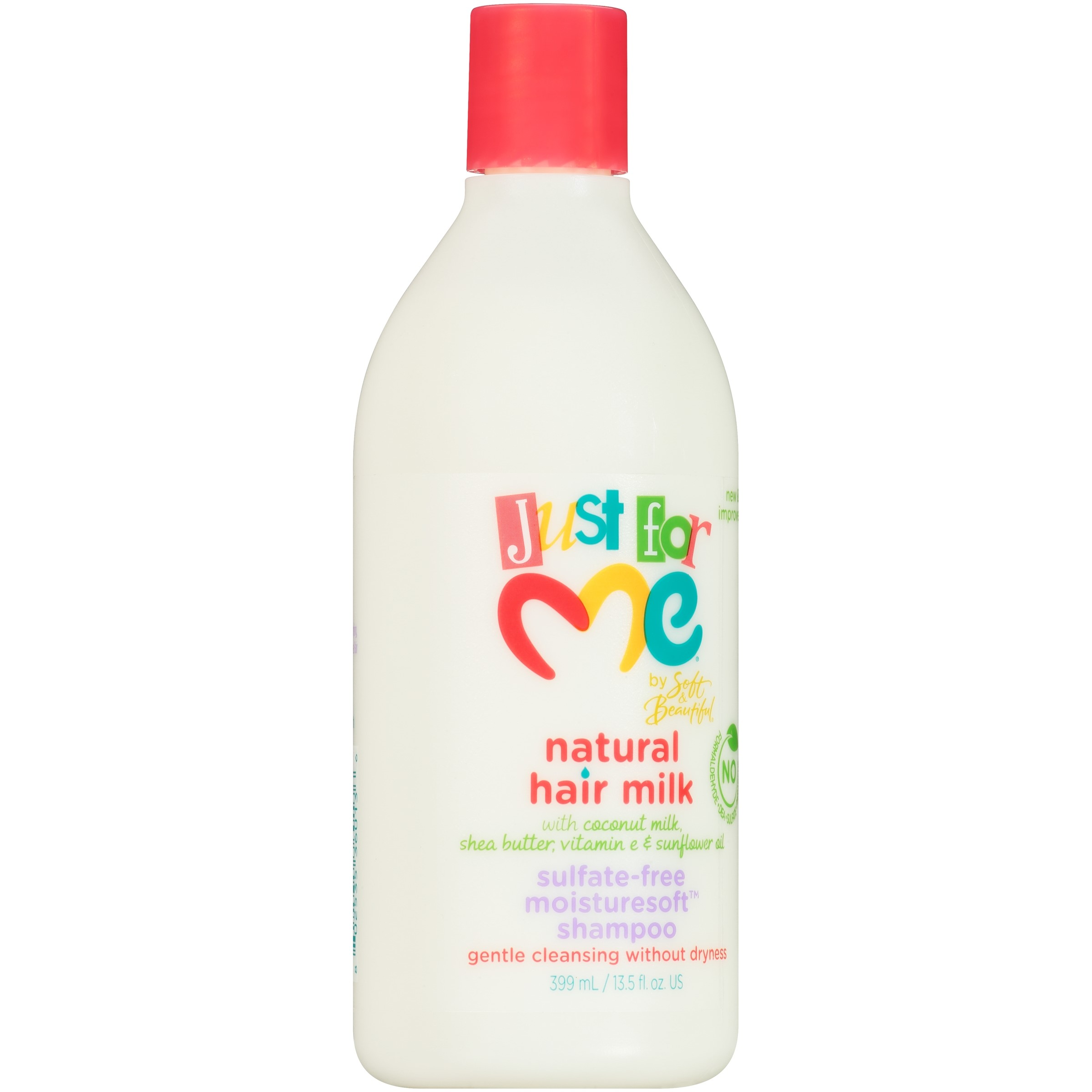 Just for Me Natural Hair Milk Sulfate-Free Moisturesoft Shampoo 13.5 fl. oz. Bottle by Just For Me