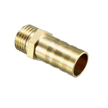 Brass Barb Hose Fitting Connector Adapter 12mm Barbed x 1/4 PT Male Pipe 5pcs - image 1 de 4