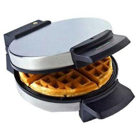 NEW Black & Decker, Brushed Chrome, Belgian Waffle Maker, Non-Stick,