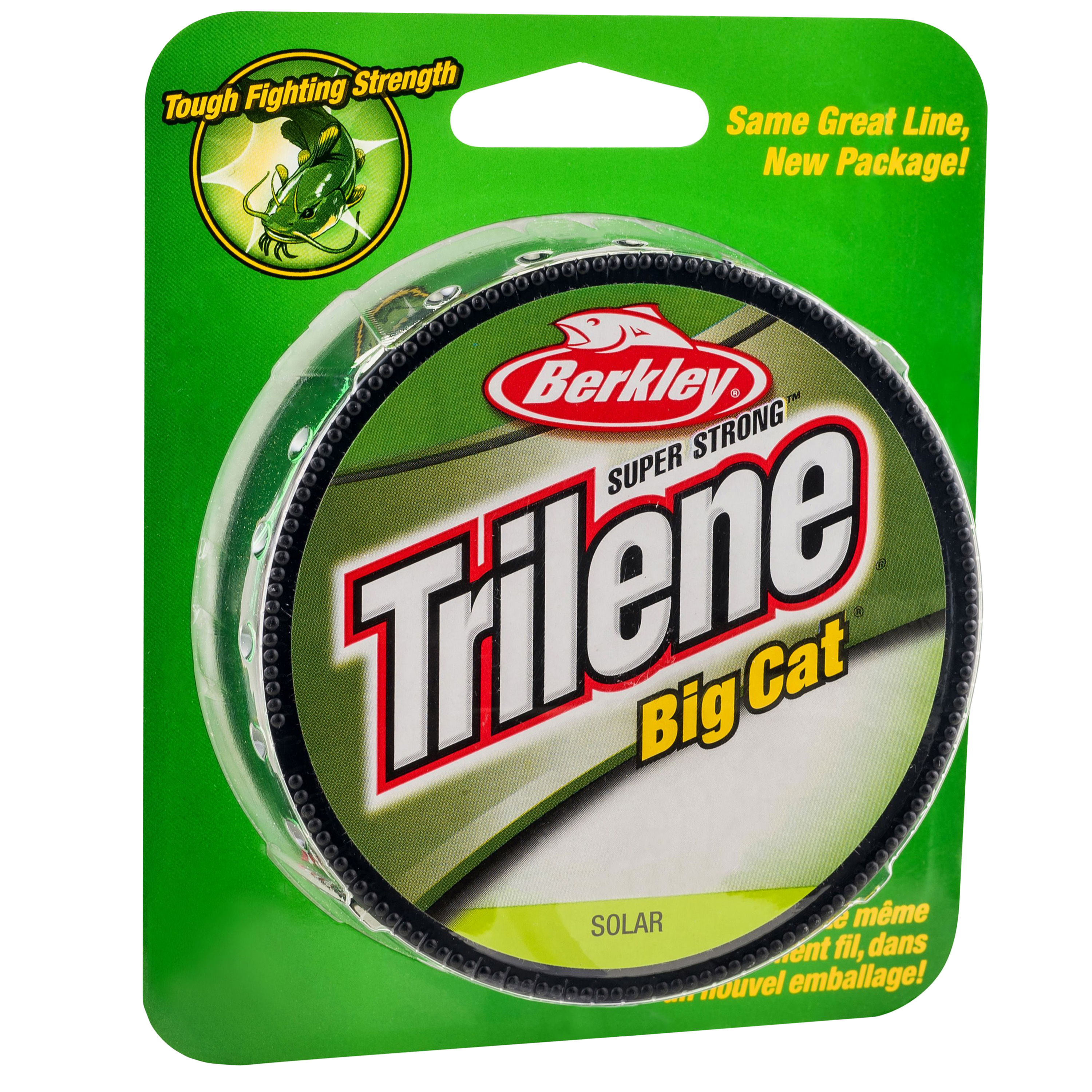"Berkley Trilene Big Cat Monofilament Line Spool 220 Yards, 0.022"" Diameter, 30 lbs Breaking Strength, Solar"