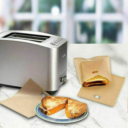 KABOER 5x Toaster Bags for Cheese Sandwiches Reusable Non-stick Bread Bags Lovely (Best Bread For Tea Sandwiches)