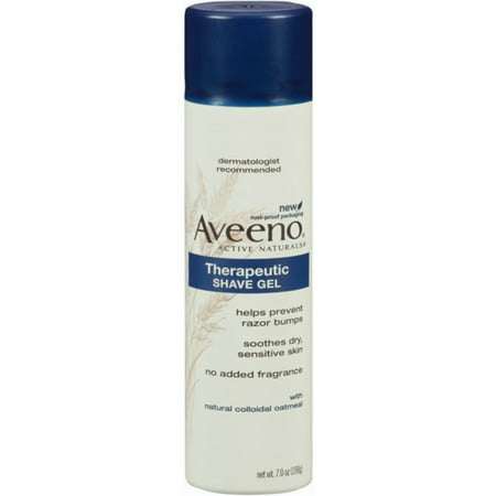 70s Sheer - AVEENO Therapeutic Shave Gel 7 oz (Pack of 3)