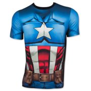 Captain America Cappin' Stance Men's Performance Athletic Costume T-Shirt, XX-Large