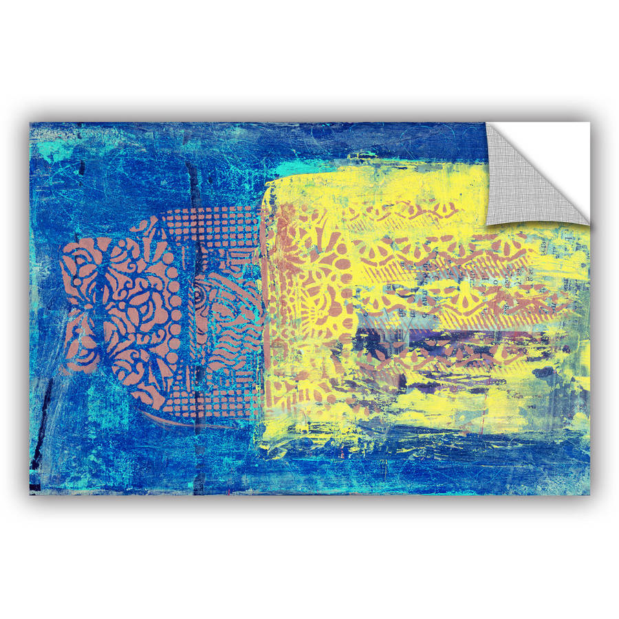 "ArtWall Elena Ray ""Blue with Stencils"" Art Appeals Removable Wall Artwork by ArtWall"