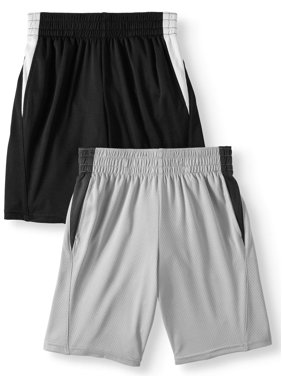 Athletic Works Mesh Shorts Value, 2-Pack (Little Boys & Big Boys)