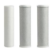 Water Systems FILTER-SET Water Ultimate Pre-Filter Set 3-Stage Replacement Pre-Filter Set, Includes 1 sediment and 2 carbon block filters to protect and extend the life of the RO system by