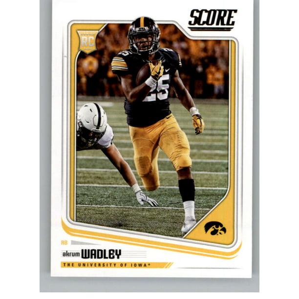 2018 Score #371 Akrum Wadley Iowa Hawkeyes Football Card