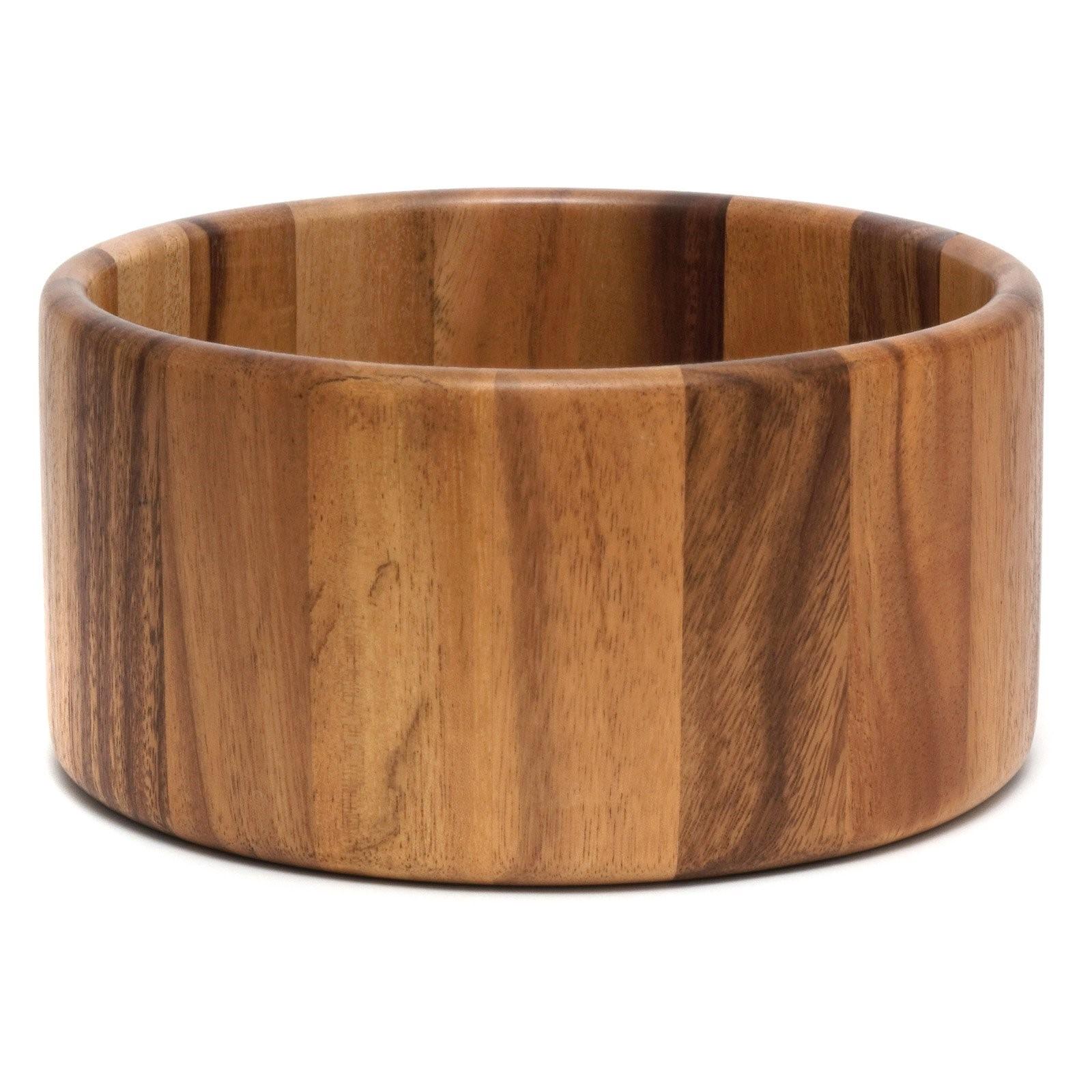 Lipper International Acacia 10 x 5 in. Straight Side Bowl