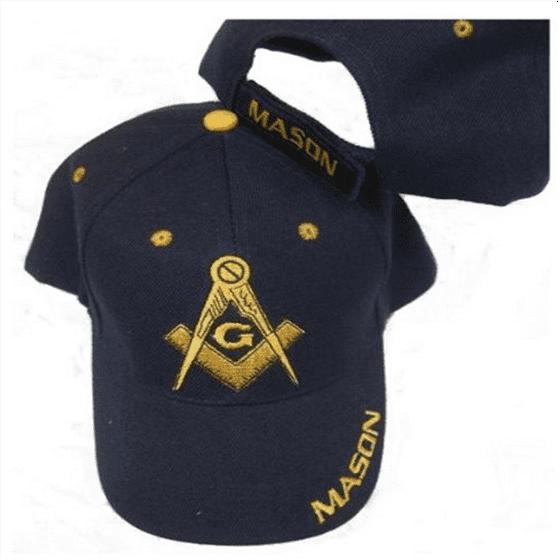 Freemason Embroidered Navy Blue Adjustable Hat Mason Masonic