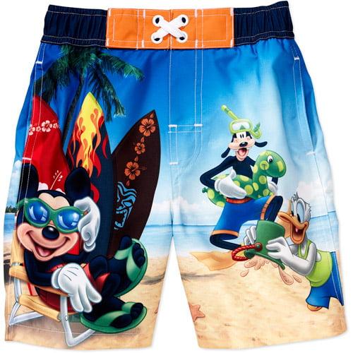711a937987 Disney - Disney - Baby Boys' Mickey Mouse Swim Trunks - Walmart.com